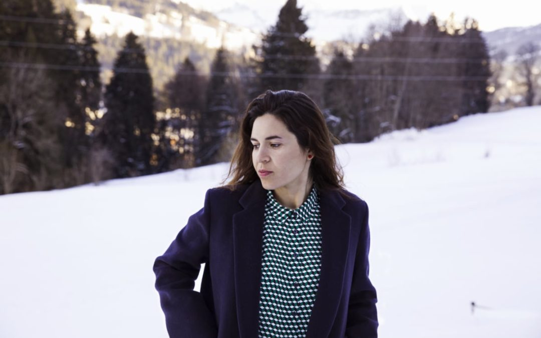 laura masotto portrait in a snowy landscape